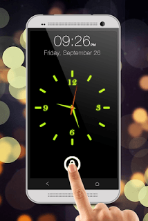 Glowing Clock Locker - Green screenshot 2