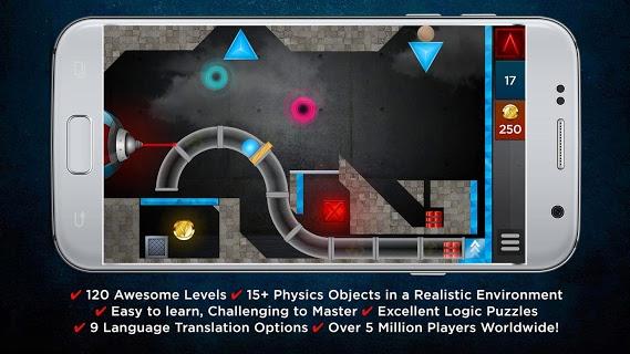Laserbreak Lite Physics Puzzle screenshot 1