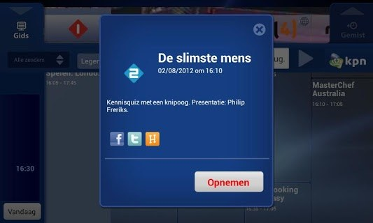 KPN Interactieve TV screenshot 2