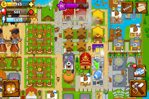 Bloons Monkey City screenshot 1