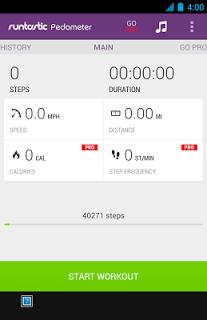 Runtastic Pedometer Step Count APK screenshot 1