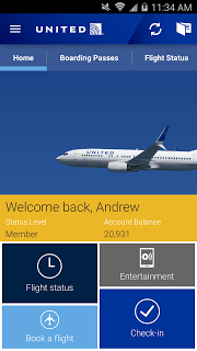 United Airlines screenshot 1