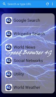 Speed Browser 4G - Light & Fast screenshot 1