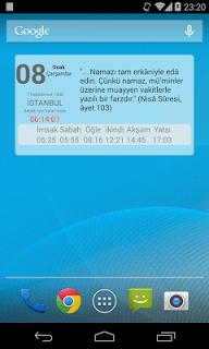 Fazilet Takvimi screenshot 1