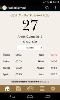 Fazilet Takvimi screenshot 2