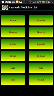 Ayurveda Medicine List pc screenshot 1