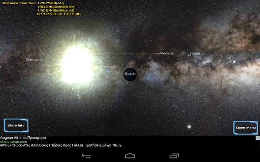 Solar System 3D Viewer screenshot 1